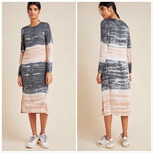 Anthropologie Dolan Trina Tie-Dye Midi Dress